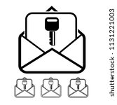 email and mail icon vector | Shutterstock .eps vector #1131221003