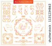 vector boho  ethnic style...   Shutterstock .eps vector #1131234863