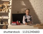 preparation for school. back to ... | Shutterstock . vector #1131240683