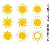 sun icon set on white... | Shutterstock .eps vector #1131243503
