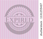 expired retro style pink emblem | Shutterstock .eps vector #1131255437