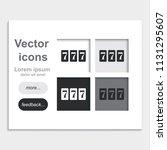 triple lucky sevens burst...   Shutterstock .eps vector #1131295607