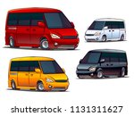 cartoon van isolated on white... | Shutterstock .eps vector #1131311627