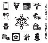 set of 13 simple editable icons ... | Shutterstock .eps vector #1131326153