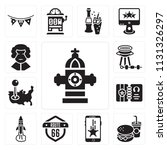 set of 13 simple editable icons ... | Shutterstock .eps vector #1131326297