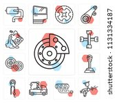 set of 13 simple editable icons ... | Shutterstock .eps vector #1131334187