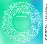 online medicine  telemedicine... | Shutterstock .eps vector #1131363677