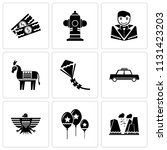 set of 9 simple editable icons... | Shutterstock .eps vector #1131423203