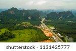 landscape of mountain in krabi... | Shutterstock . vector #1131425777