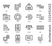 set of 16 icons such as stats ...