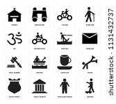 set of 16 icons such as skating ...