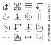 set of 16 icons such as shrink  ... | Shutterstock .eps vector #1131435797