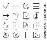 set of 16 icons such as right... | Shutterstock .eps vector #1131435833