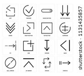 set of 16 icons such as stretch ...