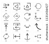 set of 16 icons such as move ...