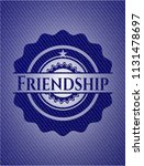 friendship emblem with denim...   Shutterstock .eps vector #1131478697