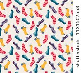 vector fashion seamless pattern ... | Shutterstock .eps vector #1131502553