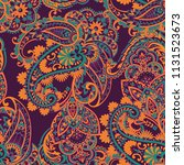 paisley vector pattern.... | Shutterstock .eps vector #1131523673