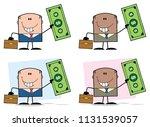 businessman cartoon character... | Shutterstock . vector #1131539057