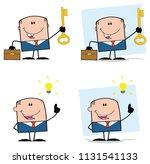 businessman cartoon character... | Shutterstock . vector #1131541133