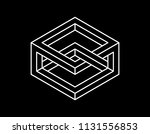 impossible object. isolated on... | Shutterstock .eps vector #1131556853