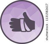 bandaged hand icon | Shutterstock .eps vector #1131582617