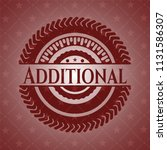 additional badge with red... | Shutterstock .eps vector #1131586307