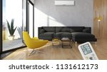 modern interior apartment with...   Shutterstock . vector #1131612173