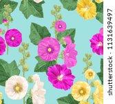 malva flower seamless pattern.... | Shutterstock .eps vector #1131639497