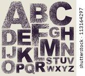 hand drawing alphabet. vector | Shutterstock .eps vector #113164297