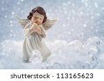 Christmas Angel On Silver...