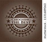 choosing the best wooden emblem....   Shutterstock .eps vector #1131689063