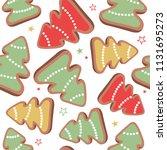 gingerbreads  biscuits hand... | Shutterstock .eps vector #1131695273