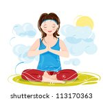 illustration of a beautiful... | Shutterstock . vector #113170363
