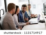 young businesspeople working on ... | Shutterstock . vector #1131714917