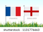 flags of france and england... | Shutterstock . vector #1131776663