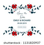 save the date card with hand...   Shutterstock . vector #1131820937