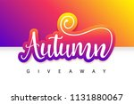 august giveaway summer contest... | Shutterstock .eps vector #1131880067