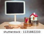 miniature people  old woman... | Shutterstock . vector #1131882233