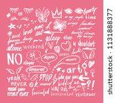 vector fashion design elements... | Shutterstock .eps vector #1131888377