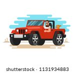 the man driving the off road... | Shutterstock . vector #1131934883