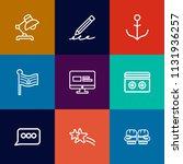 modern  simple vector icon set... | Shutterstock .eps vector #1131936257