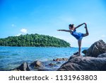 asian woman travel relax in the ... | Shutterstock . vector #1131963803