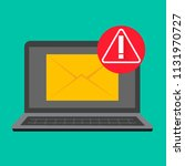 email fraud alert concept ... | Shutterstock .eps vector #1131970727