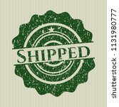 green shipped distressed rubber ... | Shutterstock .eps vector #1131980777