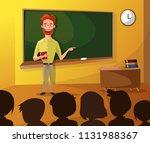 teacher teaching students in... | Shutterstock .eps vector #1131988367