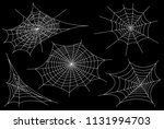 collection of cobweb  isolated... | Shutterstock .eps vector #1131994703
