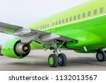 engine of passenger airplane... | Shutterstock . vector #1132013567