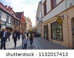 vilnius  lithuania   21 april... | Shutterstock . vector #1132017413