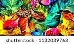 abstract psychedelic background ... | Shutterstock . vector #1132039763